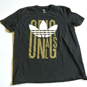 ADIDAS ORIGINALS TREFOIL black tee t shirt men L